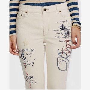 Ralph Lauren Natural Nautical Jeans Sz:8 $135